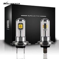 MALUOKASA 1Pair Car Headlight Kit Auto Bulbs Fog Light Lamp White H1 H3 H4 H7 H11