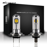 MALUOKASA 1Pair Car Headlight Kit Auto Bulbs Fog Light Lamp White H1 H3 H4 H7 H11
