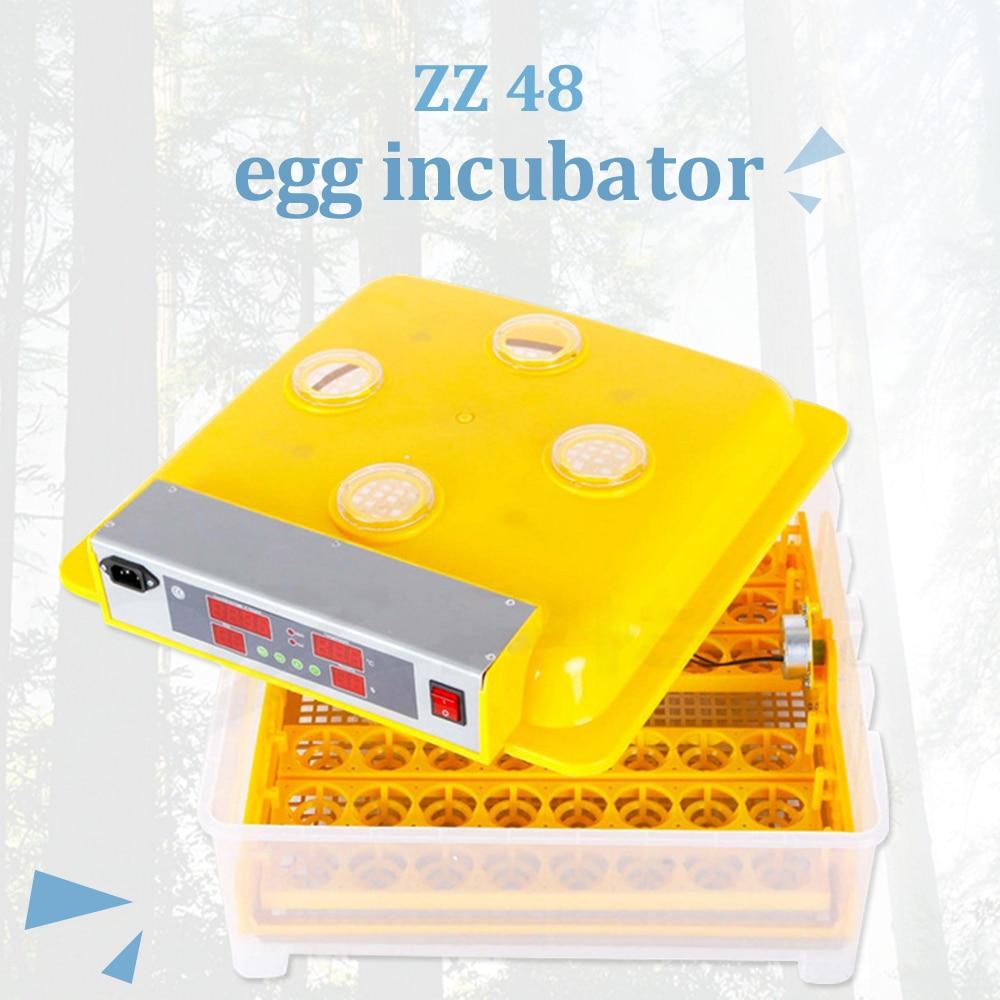 Venda quente! ZZ-48 Totalmente Controle Automático de Incubadoras de Ovos de Galinha Máquina Incubadora Mini 48 para Pombo Codorna Pato Papagaio