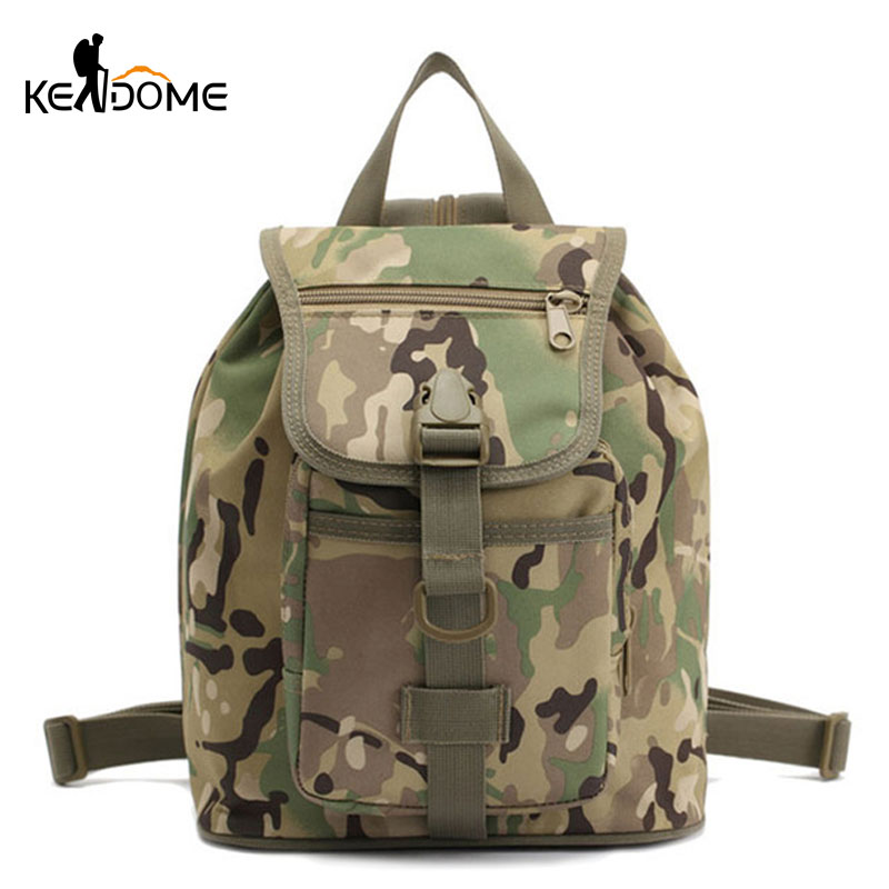 Mini Outdoor Military Tactical Backpack For Women Men Camouflage Sports Bag Climbing Trekking Rucksack Army School Bag XA667WD