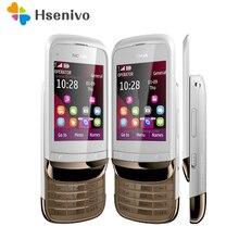 C2-02 Восстановленное разблокирована оригинальный C2-02 разблокирована Nokia C2-02 мобильный телефон для двух SIM-карт один год гарантийного ремонта