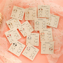 Korea joker one week earrings for woman of combination cute popularity OL style earring female S22