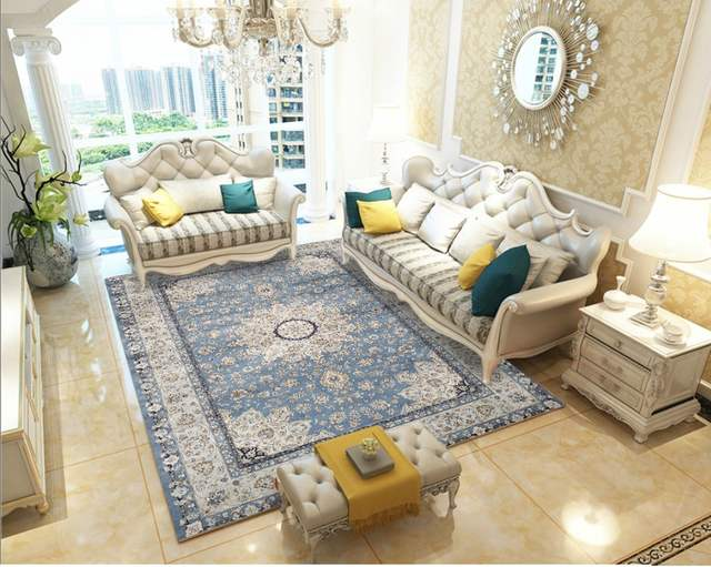 Moroccan Living Room Carpet Home Vintage Rugs For Bedroom American Carpets  Sofa Coffee Table Rug Study Room Ethnic Floor Mat