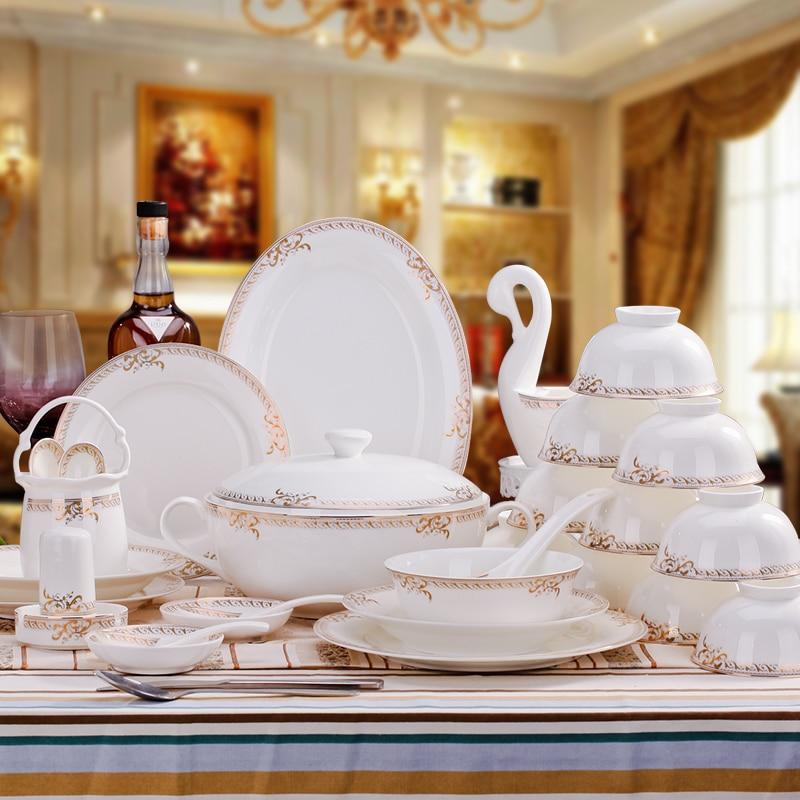 [Shengshihuayi] Jingdezhen porcelain tableware <font><b>set</b></font> 60 head of Phnom Penh dishes <font><b>set</b></font>