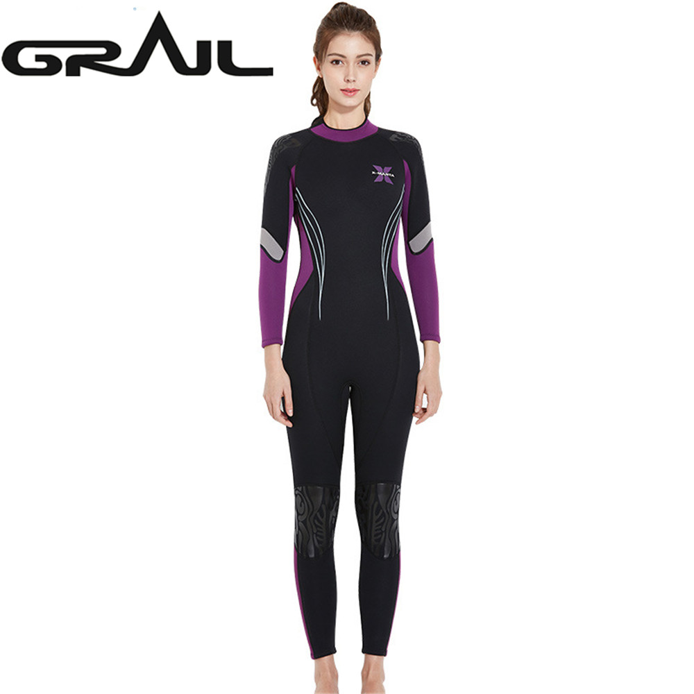 3MM Women Neoprene Long Sleeve Wet Suit Professional Diving Equipments Wetsuits Scuba Surf Winter Warm Rash Guards WS-18481 high quality cortex 3 5mm surf diving wet suits jacket men women surfing diving spearfishing wet suit long sleeve jacket wetsuit