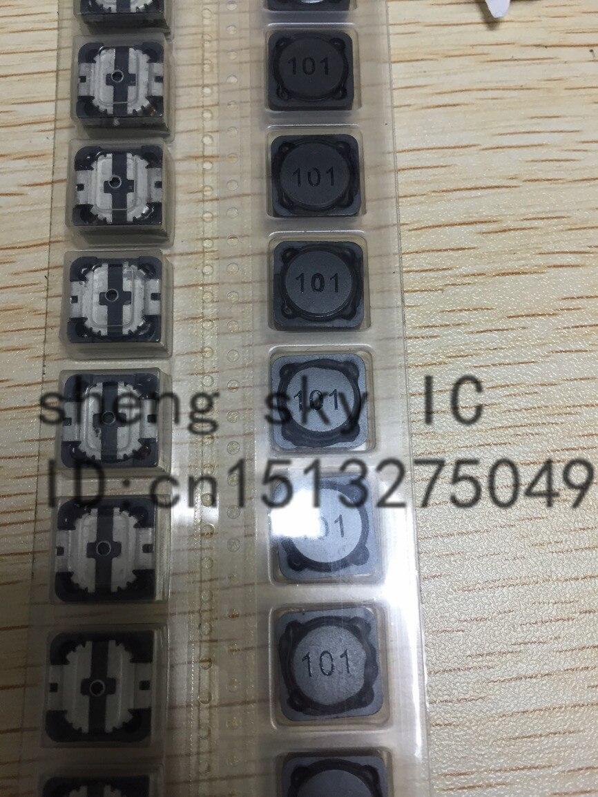 Envío libre 50 unids 100uh SMT cd124 12 12 4.5 SMD 101 marcado Shielded  Power Inductores . 8f7747f9218