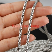Wholesale New Trendy 4mm Width 316L Stainless Steel Charming Silver Baskets Necklace Chains 5/10m Length DIY Free Collocation