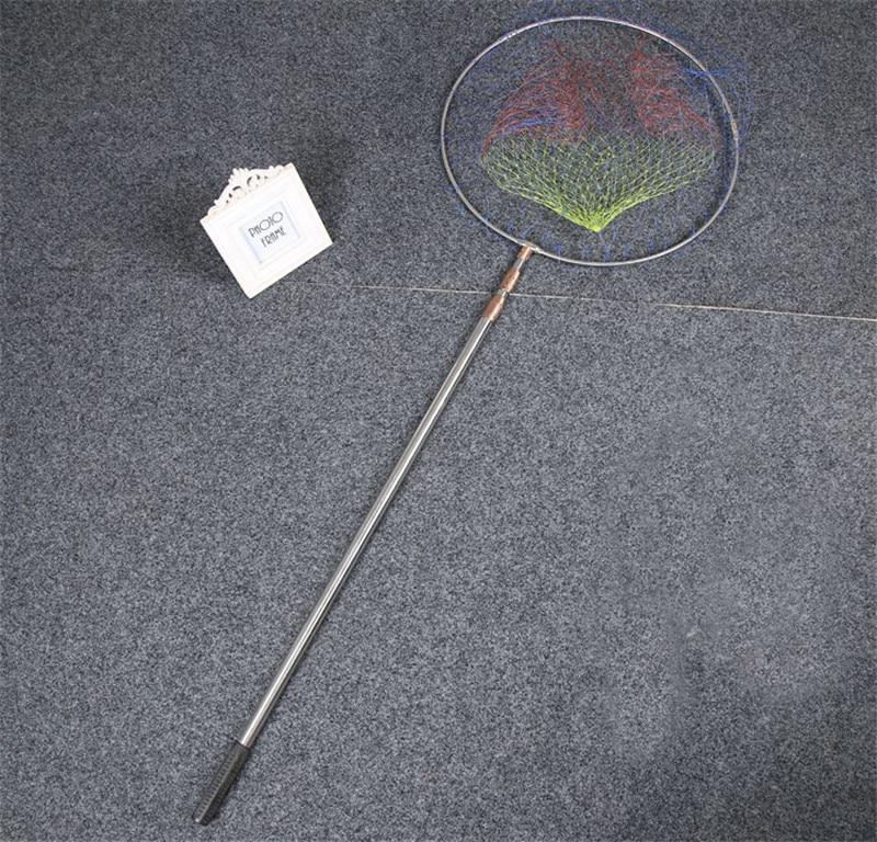 3 sections Telescoping Pole Aluminum Fishing Landing Net Fish Cast Carp with Extending Folding Fishing Accessoy