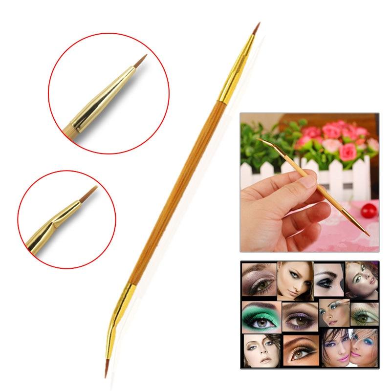 2017 Lady MakeUp Brush Cosmetic Brush Double Sided Ended Brushes Eyeshadow Eye Brow Tools Lip Eyeliner