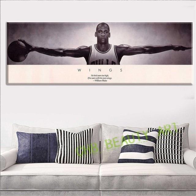 acheter populaire afe2a c61d7 € 6.85 |Michael Jordan AILES MJ 23 de Basket Ball Affiche Impression 3  Taille Affiche Et Gravures Pour La Maison Décorer Sans Cadre dans ...