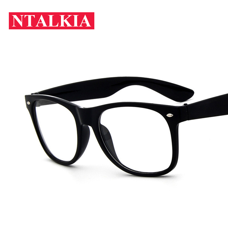 f3daeacd442a Fashion Clear Glasses Men Fake Glasses Square Eyeglasses Optical Frames Male  Reading Eyewear Spectacle Frames Transparent Oculos-in Eyewear Frames from  ...