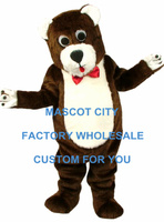 Deluxe Material Bear Mascot Costume Bear Mascotte Mascota Outfit Suit Party Carnival Fancy Dress SW519