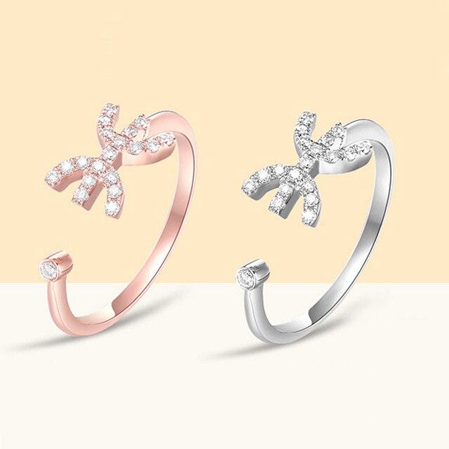 1 Pc anillo de circón ajustable Piscis estrella constelación anillos de  estilo coreano regalo de cumpleaños a455e0fb6f6