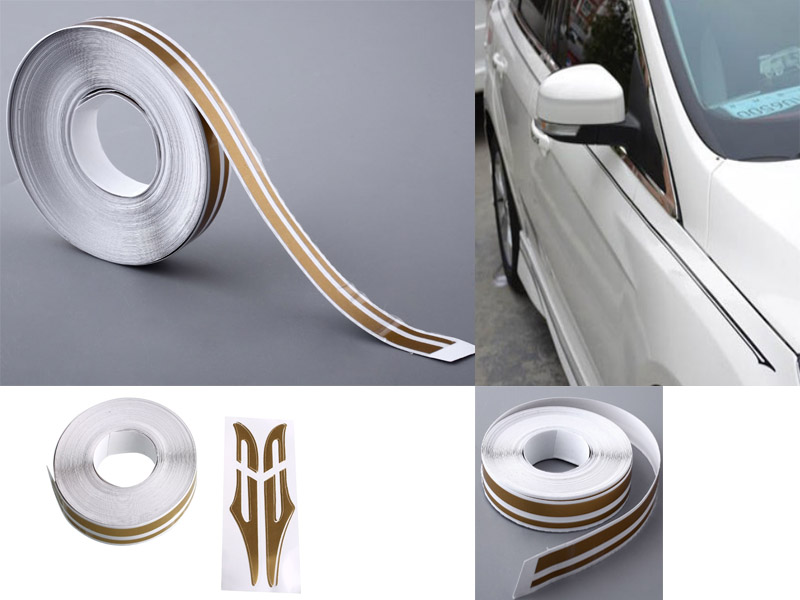 "12mm 1//2/"" PinStriping Double Pin Tape Car Styling Decal Vinyl Sticker MATTE GOLD"