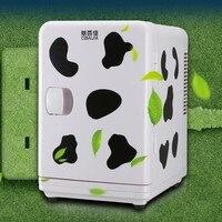 CBJ Car Refrigerator Fridge 6L Lovely Mini Cooler And Heating Box Dual Use Home Car 220V