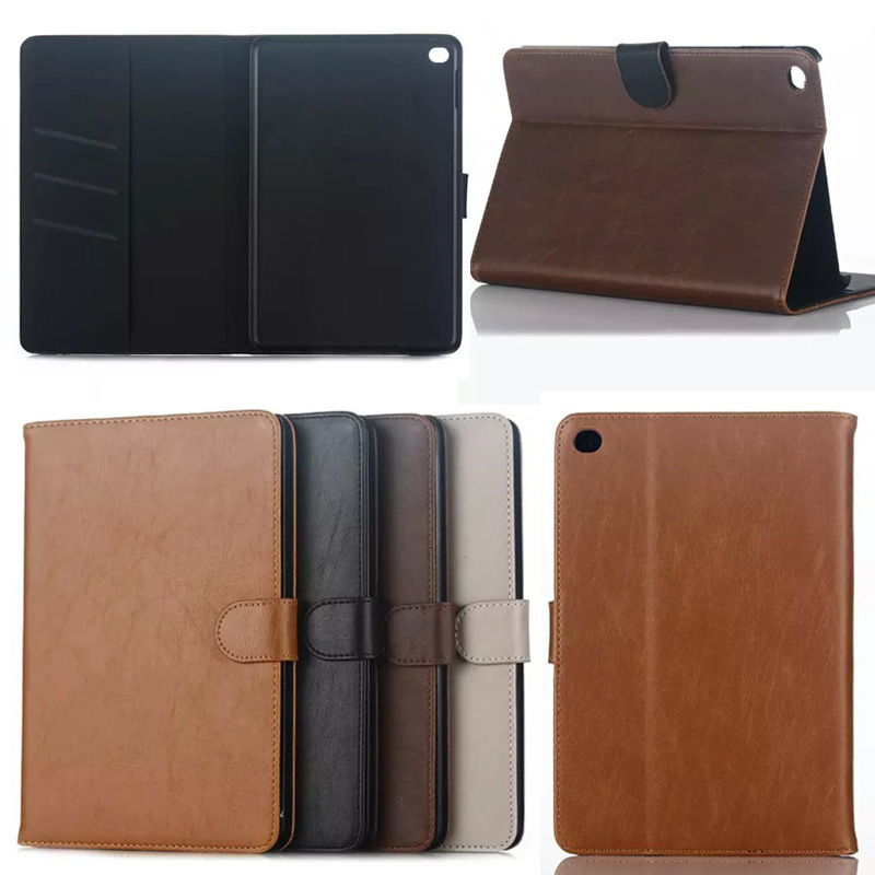 Business style Flip Crazy hours Wallet PU Leather Stand Case for Apple iPad mini 4 Protective Tablet Cover for iPad mini4 S4A59D protective pu pc flip open case cover for ipad mini red