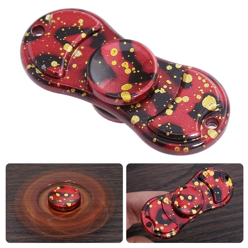 New Hand Finger Fidget Spinner Fun Fingertip Spinning Game Desk Focus Anti Stress Fidget Tri-Spinner Long Rotation Time