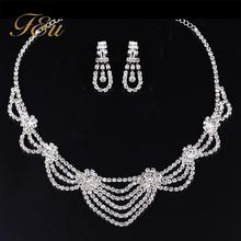 F&U Blingbling Filled Rhinestone Necklace and Earrings Sets for Wedding/Engagement/Party/Anniversary Occasion Jewelry set #S031
