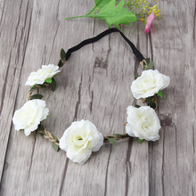 M MISM Fashion Hair Accessories Women Bohemia Beach Peony Flower Headband Hairband Wreath Flora Summer Bridal Wedding Head Band