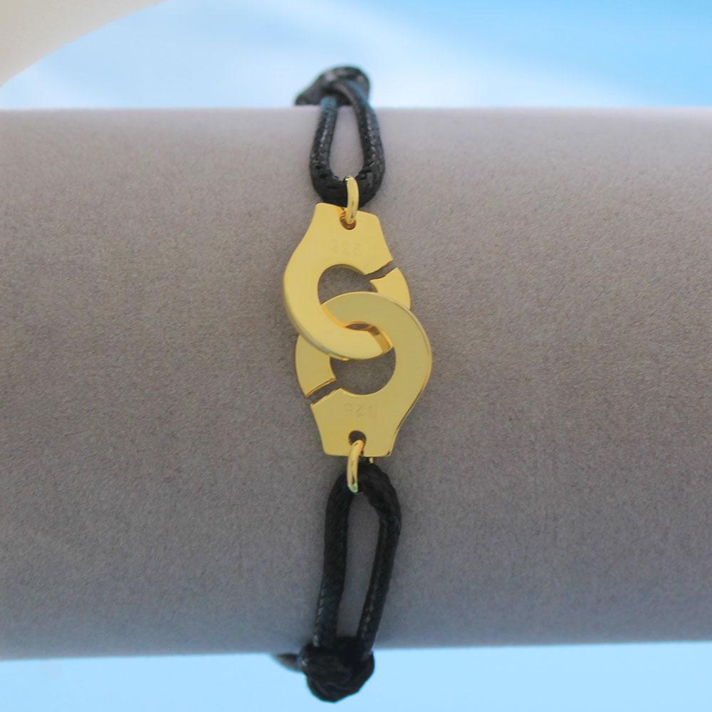 Мужские ювелирные изделия из стерлингового серебра 925 браслет наручники для женщин Bijoux с регулируемой веревкой 925 Серебряный кулон браслет для мужчин - Окраска металла: HY
