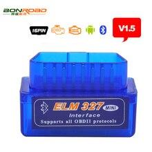 Mini ELM327 Auto Scanner ELM 327 Bluetooth OBD2 for Android Torque OBDII Car V1.5 Vehicle Scan Diagnostic Tool