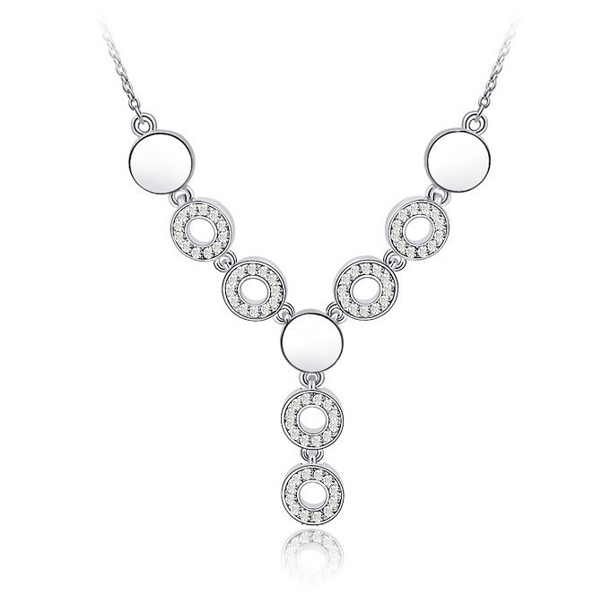 Girlfriend Gifts Necklaces & Pendants Wedding Necklaces For Friends Austrian Crystal Bride Mother Jewelry Fine Bijoux Wholesale