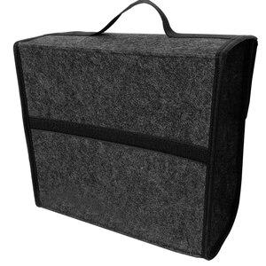 Image 3 - 소프트 모직 펠트 자동차 트렁크 주최자 30*16*29cm 자동차 스토리지 박스 가방 내화 Stowing 깔끔한 패키지 담요 도구