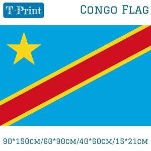 Purchase 90*150cm/60*90cm/40*60cm/15*21cm Congo-Kinshasa Flag Democratic Republic Of The Congo Banner — iroyaaetetn