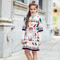 Kidsalon Wedding Dress Robe Fille Enfant 2017 Winter Girl Dress Autumn Baby Girl Princess Dress Printed