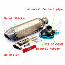 new products Motorcycle Akrapovic Exhaust pipe Scooter Muffler Dirt Bike Parts For KTM 200XC / XC-W / EXC  2005 2006 2007 2008