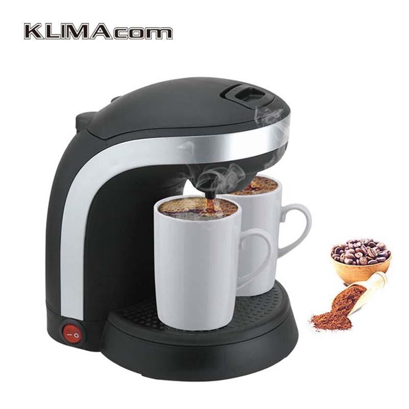 220 240v Plastic Drip Coffee Maker 2 Cups Home Tea Machines Automatic