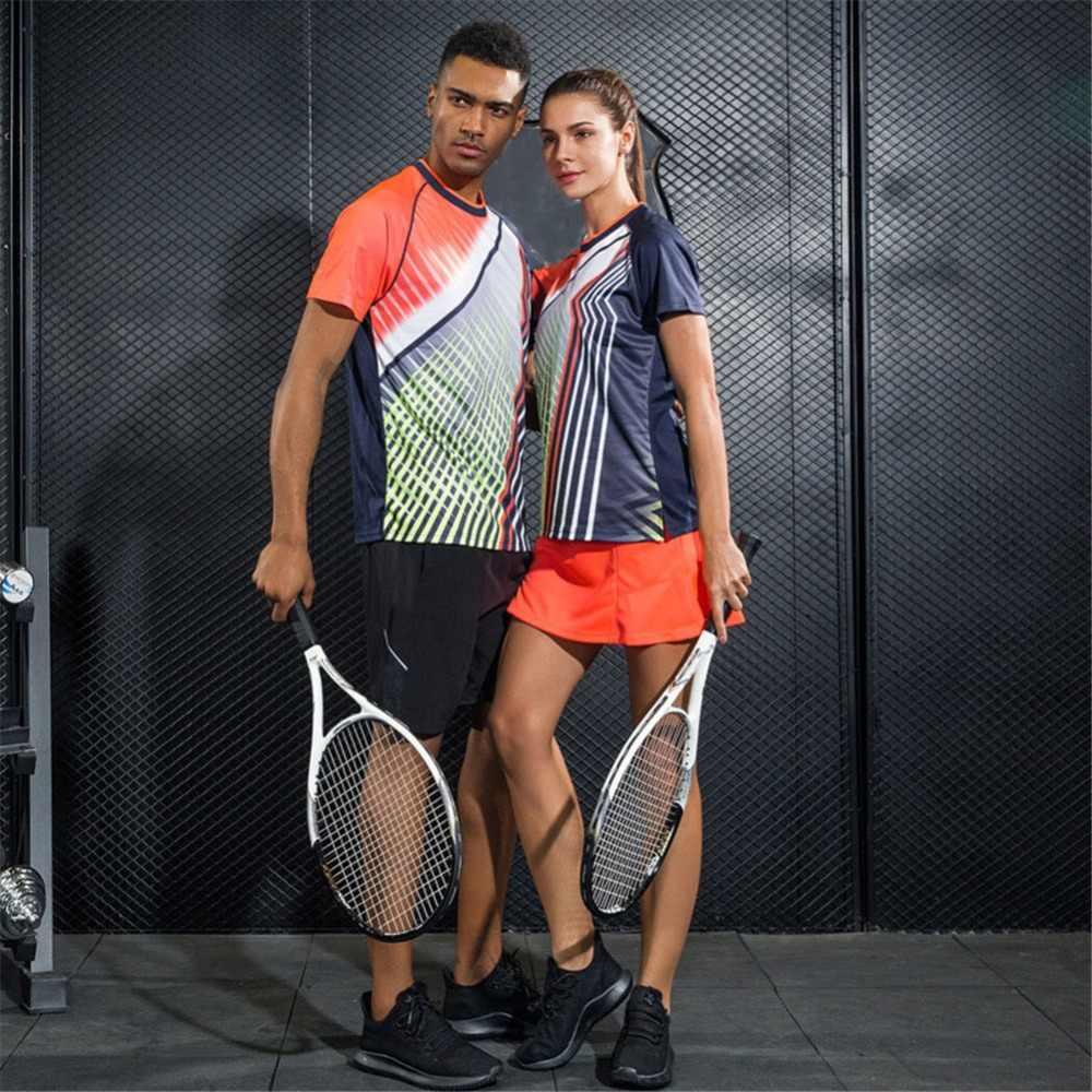 تنس ملابس رياضية الرجال والنساء بدلات رياضية عرق ماصة تنفس التجفيف السريع ملابس رياضية compinaison دي تنس