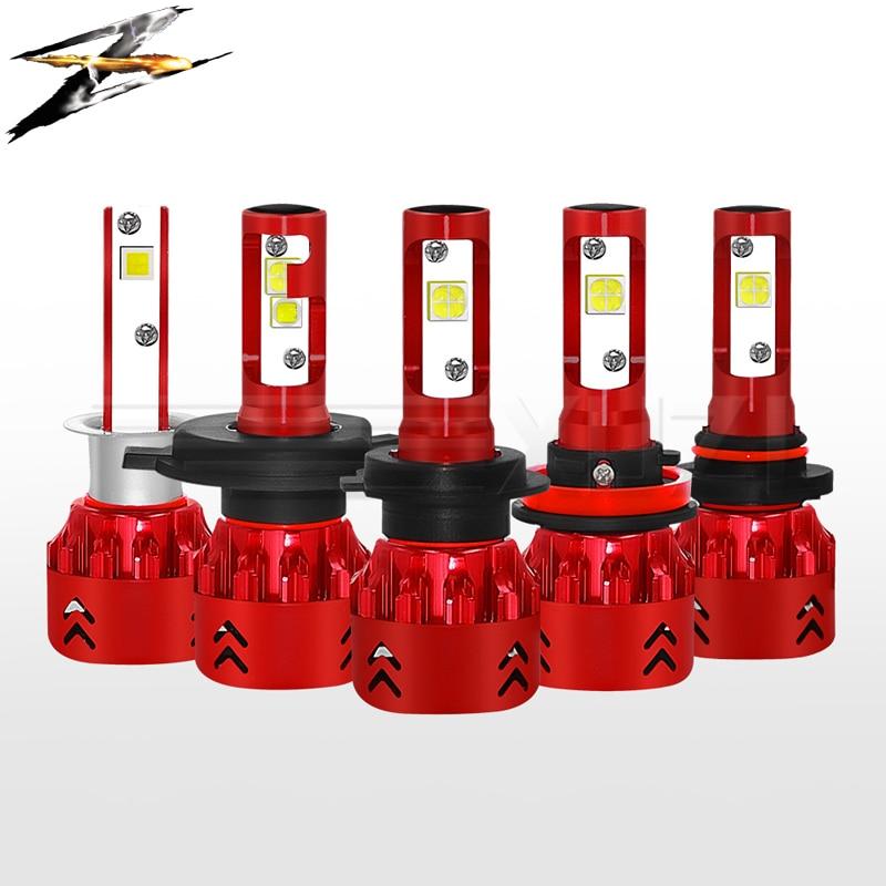 Mini 7 ampoules de phare de voiture 9600LM CREE-XHP50 super puce LED 12 V 80 W 6000 k h1 h3 h4 9005 9006 h7 H11 H9 H8 lumière LED brouillard