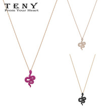TENY Swa LESLIE PENDANT Necklace Sterling Silver Original 1:1 High Quality Women Jewelry First Choice Free Package Mail