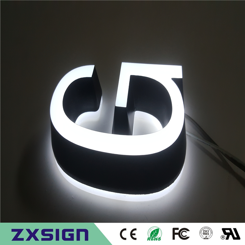 Factory Outlet Super High Brightness Illuminated Acrylic LED Letters For Shop Sign
