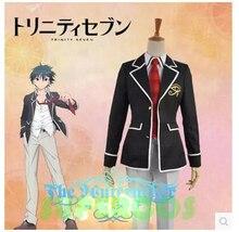 Free Shipping! High Quality! Trinity Seven Kasuga Arata School Uniform Cosplay Costume ,Perfect Customized For you!