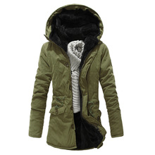 Winter Jacket Men Casual Parkas Winter Thick Warm Fleece Men's Jacket and Coats Casual Plus Size Hooded Long Coat Outwears
