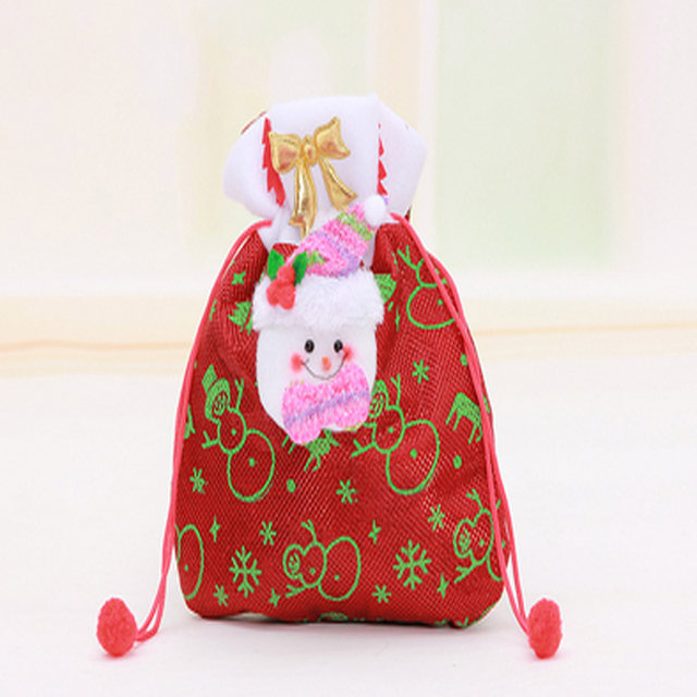d5382646d4cd Creative Christmas Tree  snowman Printing Pattern Santa Claus Candy Bag  Handbag Home Party Decoration Gift Bag Christmas supplie