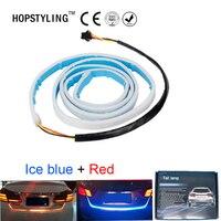 120 cm Ice Blue + Đỏ Cổng Sau LED Strip Light Bar Xếp Phanh bật Signal Tail dẫn di chuyển flash cảnh báo ánh sáng với biến tín hiệu