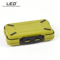 Leo Large Waterproof Fishing Tackle Boxes Double Side Adjustable Fishing Storage Case For Fly Fishing Lure