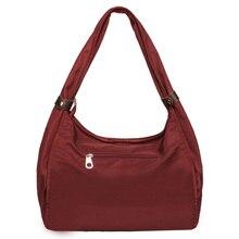 Big Shoulder Bag Waterproof Nylon Soft Large Capacity Leisure Or Travel Contracted Joker Oxford Hobos High Quality Handbag