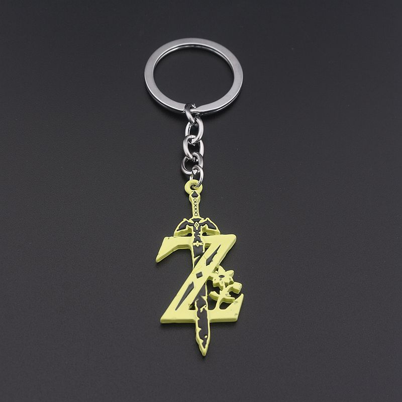 The Legend of Zelda Keychain The Sword with Z Key Ring Holder Fashion Car Chaveiro Hot Game Key Chain Pendant Men Gift Jewelry