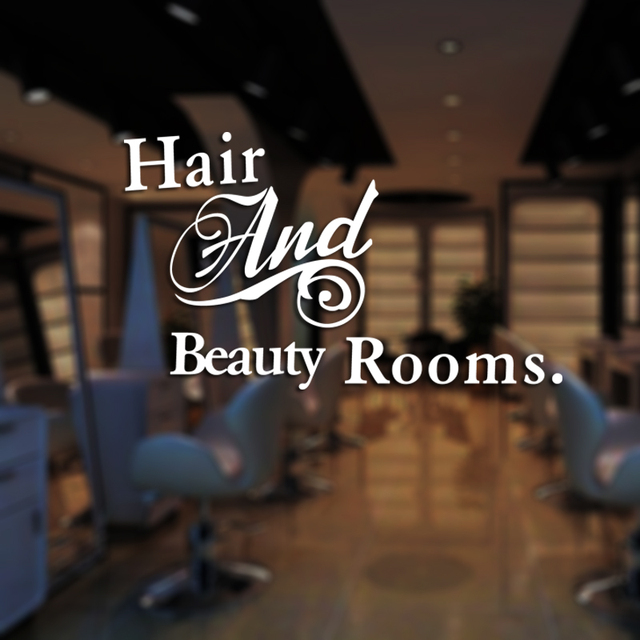 Wonderful DCTAL Hair Salon Sticker Beauty Decal Haircut Name Posters Time Hour Vinyl  Wall Art Decals Decor