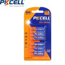 8 sztuk/karty PKCELL LR03 1.5V baterii 3A LR03 AAA E92 AM4 MN2400Alkaline sucha bateria typu Superior UM4 MN2400 LR03 SUM4 LR3 HP16 AM4 400