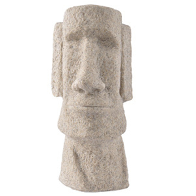 Europe Home Furnishing Decoration Figurines Easter Island Stone Statue Craft Creative House Hotel Craft Decoration Business Gift