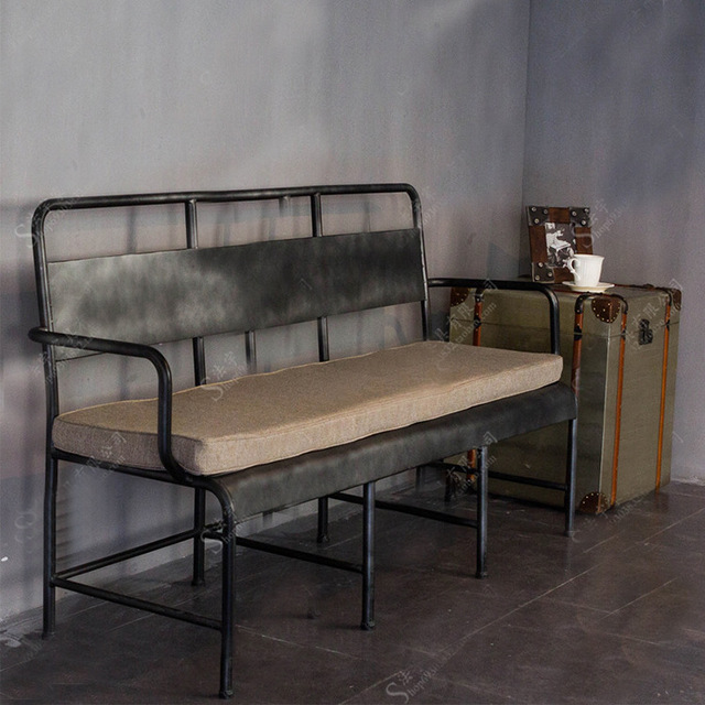 American Country Retro Lounge Chair Loft Industrial Wrought Iron Sofa Chair  Do The Old Three