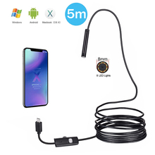 Android Endoscope Camera 1080P Full HD IP67 1920*1080 1M 2M 3.5M 5M Micro USB Inspection Video Snake Borescope Tube