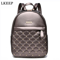 Women Backpacks 2017 Hot Sale Fashion Causal Bags High Quality Bead Female Shoulder Bag PU Leather