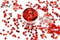 TCA300 Espadas Láser Color Rojo 5 MM Tamaño Del polvo Del Brillo, especular brillo brillo para uñas tatto,, Arte decoración y otros