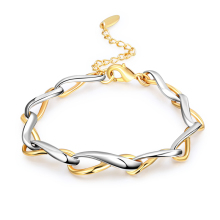 Personality Noble Trendy Gold and Silver Color 8 Font Bracelet Metal Alloy Chain Bracelets For Women Creativity Fashion Jewelry